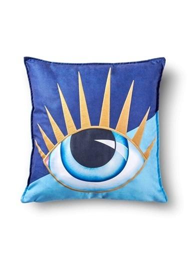 The Mia Eye Yastık 45 x 45 Cm Renkli